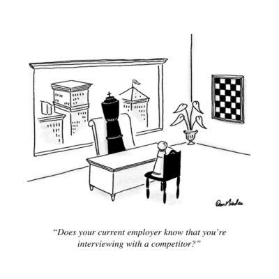 Chess Interview Cartoon