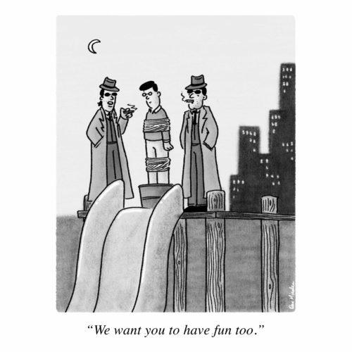 Mobster Slide Cartoon