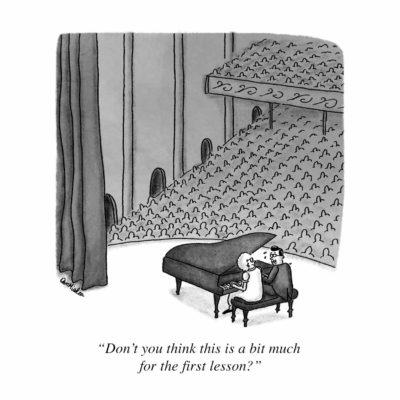 Piano Lesson Cartoon
